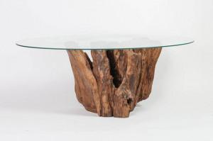 Couchtisch Treibholz Glasplatte - Couchtisch Treibholz massiv